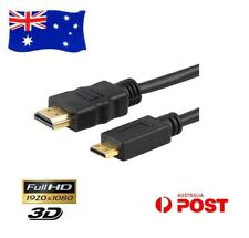 Mini HDMI to Standard HDMI M/M Adapter Cable HDTV 1080p LCD DVD 4K FULL HD AU