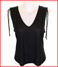 Bnwt Authentic Womens French Connection Strappy Top Black New Fcuk