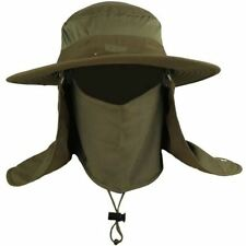 Mens Fishing Hat Round Edges Cap Camping Hat Sun UV Protection Summer Bucket Cap