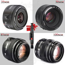 Yongnuo YN 35mm 50mm 85mm 100mm Auto Focus MF EF Prime Fixed Lens For Canon EOS