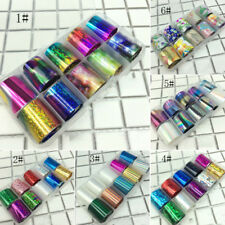10PCS Starry Sky Nail Foil Decals Nail Art Tips Manicure DIY Stickers Decoration