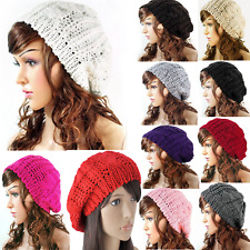 Fashion 2018 Women Mens Knit Crochet Beanie Beret Baggy Hat Winter Warm Ski Cap