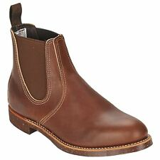 Red Wing Rancher Chelsea 8201 Brown Men Leather Chelsea Ankle Twin Elastic Boots