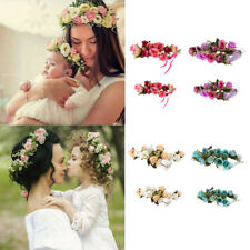 2x Women Mom+Baby Girl Parent-child Headband Hair Band Flower Boho Headwear
