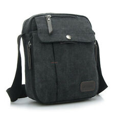 Men's Shoulder Canvas Bag Messenger School Bag Military  Vintage Leather Satchel