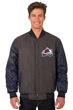 Colorado Avalanche Wool & Leather Reversible Jacket with Embroidered Logo