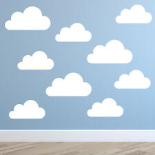 Set of Large Clouds Wall Decal Nursery Wall Decal Child Wall Decal Cloud Sticker