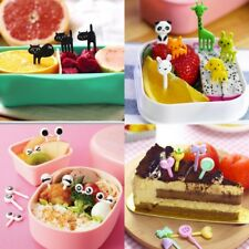 10Pcs Kids Bento Animal Food Fruit Picks Forks Lunch Box Accessory Decor Tools