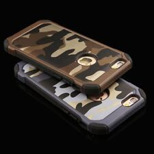 6s 2 in 1 Army Camouflage Phone Cases For iphone 4 4s 5 5s SE 6 6s Plus Armor Ca
