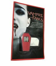 Vampire Dracula Fangs Caps Teeth Fancy With Adhesive putty buy 1 get 1 free