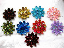 6 Applications with beads and Sequins in various Colours,35mm (A2)