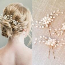 1pc Women Crystal Pearl Hairpins Elegant Bridal Wedding Accessory Girls Hairpins