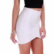 Women Short Elastic Rayon Bandage Skirt Mini Slim
