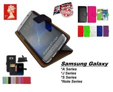 Luxury Genuine Real Leather Flip Case Wallet Cover Stand for Samsung Galaxy