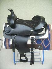 """15"""" New Black All Leather Western Pleasure Show Trail Saddle ONLY Must See"""