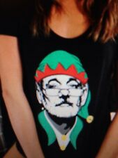 the Chive *Authentic* Bill Elf'n Murray women's t-shirt Small S KCCO BFM Xmas