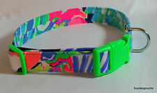Lilly Pulitzer Handcrafted Dog Collar-Multi Perrfect Print 2017-All sizes- USA