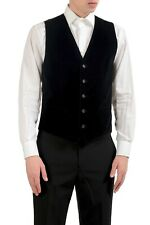 Dolce & Gabbana Men's Black Velour Button Up Vest Size XS S L