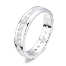 SFE073 .925 Sterling Silver Eternity CZ Wedding Engagement  Rings Size 6,7,8
