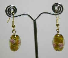 Glass bead earrings, 6 different design bead,lightweight, handmade