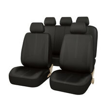 CAR PASS Design PU Leather Auto car Seat Covers Full Synthetic Set Front & Rear