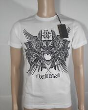(NWT)Roberto Cavalli Mens T-Shirt,White,Size S,XL,Designer,Cotton,Hot,Lit,Cool