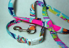 "Lilly Pulitzer "" Besame Mucho"" Print Handcrafted Dog Collar& Leash Set *SALE*"