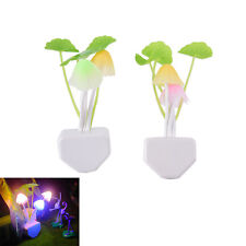 Sensor Night Light Mushroom LED Lamp EU/US Plug Romantic Colorful Home AU