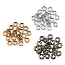20 Pieces Crystal Spacer Bead Metal Loose Beads for DIY Jewelry Making Craft