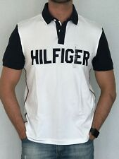 100% AUTHENTIC MENS DESIGNER TOMMY HILFIGER STRETCH POLO SIZE S, M  OR L WHITE