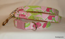 "NEW * Lilly Pulitzer ""Frisky Business"" Handcrafted Dog Collar & Leash Set *SALE*"