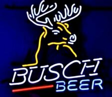 Busch Beer Real Glass Tube Light Neon Sign Bar Pub Handcrafted