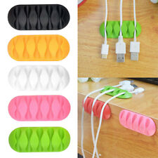2PCS/Set Multipurpose Wire Cord Cable Tidy Holder Drop Clips Organizer Winder
