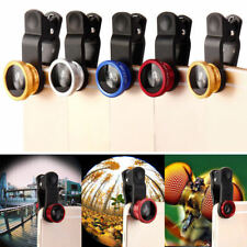 3in1 Clip On Fisheye Camera Lens + Wide Angle + Macro For iPhone Smart Phones