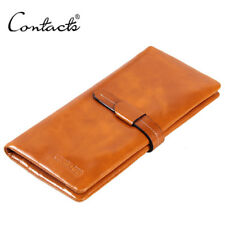 Luxury Lady Soft Wax Leather Bifold Wallet Credit Card Holder Phone Coin Purse