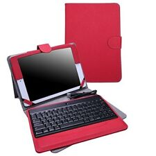 Apple iPad 9.7 inches 2017 Red Wireless Bluetooth Keyboard Case PU Leather Gift