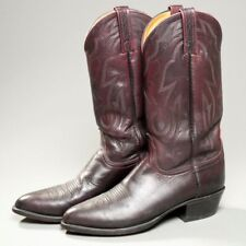 LUCCHESE 2000 Men's Size 9 D Deep Red Leather T3095 J4 Western Cowboy Boots