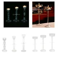 Pack 3 Glass Candle Holder Candlestick Tealight Wedding Party Home Decoration