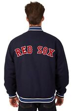 MLB Boston Red Sox JH Design Wool Reversible Jacket With Embroided Logos Navy