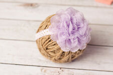 Lavender Chiffon Lavender and Gold Headband Lace Flower Headband First Birthday