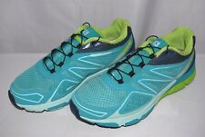 Salomon Women's X-Scream 3D W Trail Running Shoes 375958 Blue/Green, Pre-Owned
