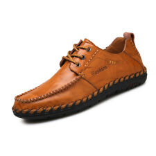 Mens Shoes Driving Loafer Shoes Flats Leather Casual Cowhide Moccasins Shoes