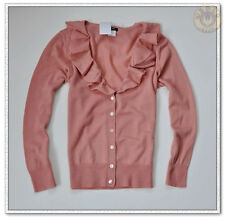 NWT J.Crew Merino Wool Rose Corsage Cardigan Sweater Vintage Rose SZ Large