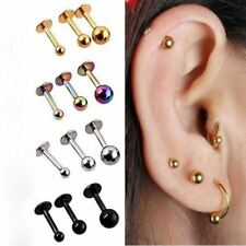 New Hot 2Pcs Surgical Stainless Steel Tragus Helix Bar Ball Eyebrow Nose Lip Car