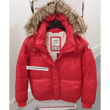 ABERCROMBIE & FITCH WOMENS PUFFER JACKET COAT RED SIZE MEDIUM
