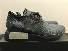 MENS ADIDAS NMD R1 PRIMEKNIT BLACK OLIVE AQ1248 SIZE 12.5 DS, 100% AUTHENTIC