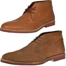 RED TAPE Mens Desert Brogues Leather Ankle lace up Formal Fashion Chukka Boots