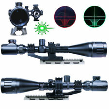 Tactical 6-24X50AO Rifle Scope Illuminated GREEN Laser Sight+PEPR Rail Mount