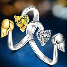 Engagement Adjustable Size Fashion Angel Wings Adjustable Ring Ring Love Heart