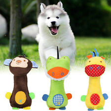 Funny Pet Dog Cat Toys Pet Puppy Chew Squeaker Squeaky Plush Sound Cartoon HOT